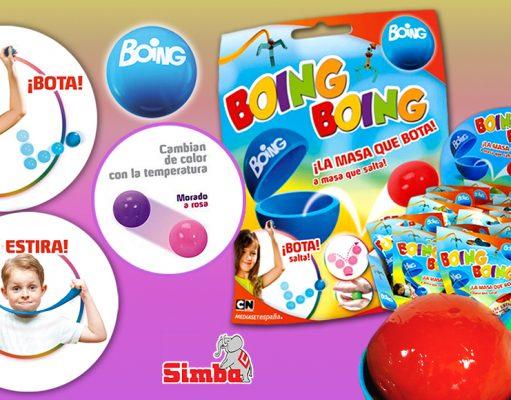 Boing Boing, la masa que cambia de color