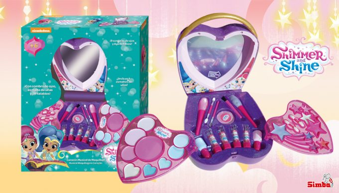 juguetes de Shimmer and Shine Corazón Maquillaje