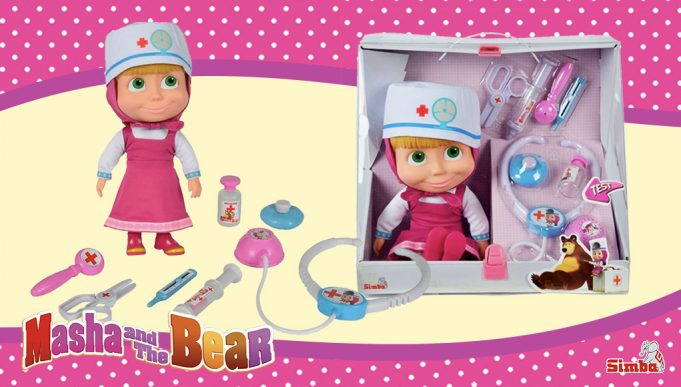 muñeca Masha doctora maletín