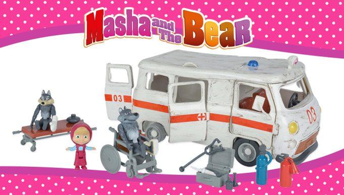 juguetes de Masha y el Oso ambulancia