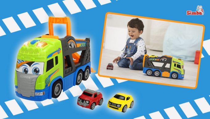 coches de juguete tráiler portacoches scania