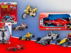 coches de juguete Fórmula 1 y motos cross
