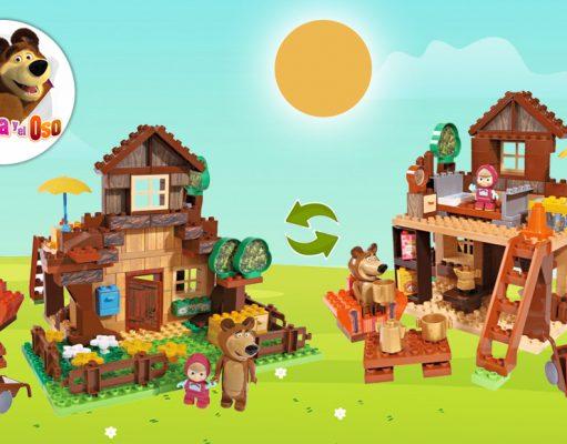 juguetes de Masha y el Oso casa construcción Oso