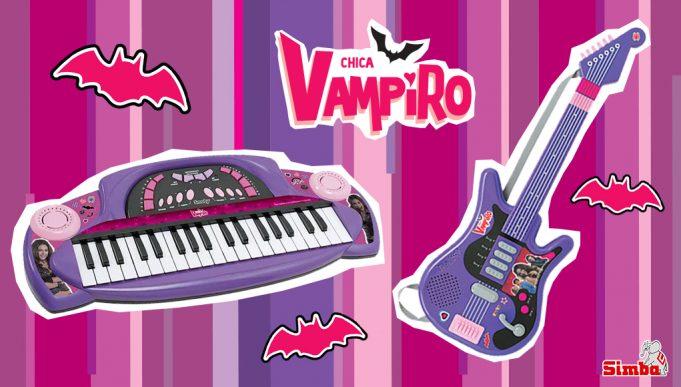juguetes de Chica Vampiro guitarra y teclado