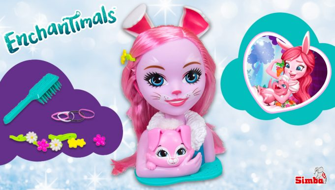 busto para peinar muñeca Enchantimals