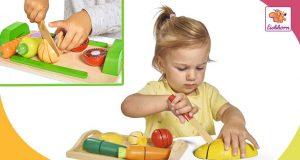 juguetes de madera alimentos para cortar