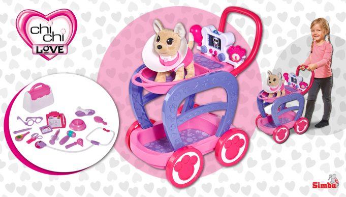 perros de juguete Chi Chi Love carrito veterinario