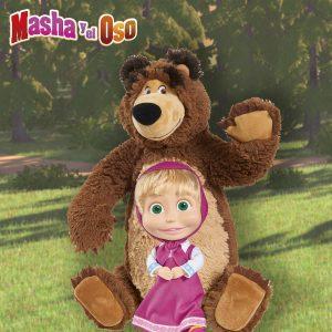 muñeca de masha y peluche de oso de masha y el oso